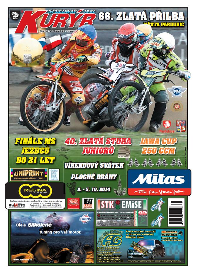 Speedway Kurýr - Zlatá přilba 2014